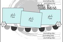 3 Photos - Scrapbook Sketches / Scrapbook Sketches - designed for 3 photograhs