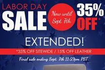 Labor Day Sale / 35%off all fabric 15% off all leather Sale ends Sept.5th