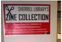 Zine Collection / Zines are an informal mode of self-expression well-suited to the philosophy of community-building at Lesley University and the Episcopal Divinity School. The Sherrill Library Zine Collection gathers the diverse ideas, experiences, interests, and personal histories of these communities and presents them as both a browsing collection and a collection that is preserved in the University Archives.