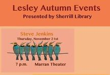 Fall Events 2013 / Events in the Sherrill Library at Lesley University