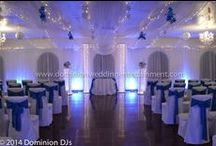 LED UPLIGHTING/ YOUR WEDDING- YOUR COLOR / Dominion Wedding Entertainment provides professional top-caliber wedding DJs, Emcees, LED Uplighting and custom Monograms, and Photo Booths in Northern Virginia, Washington, D.C., and Maryland