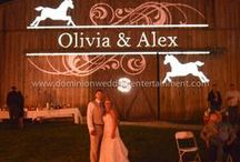 CUSTOM MONOGRAMS / Customize your wedding with your names in lights. Your guests will remember seeing your custom monogram and the elegance it added to your wedding. 32 templates to choose from and more added regularly.