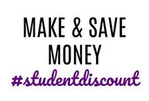 Money Saving & Making / Student discounts, savings, and jobs oh my! Here's a variety of ways to save money or even make some easy side cash.