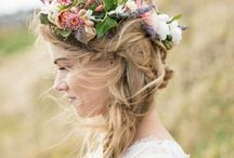 Bridal hairstyles / Fun and quirky easy peasy hairstyles for all hair types plus make up inspiration, and tips