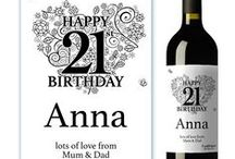 Wine Labels Personalised For a Special Event or Person / Want to send a unique and personal gift to someone special then we have the perfect range of personalised wine labels. For a birthday, thank you gift, wedding,new arrival or just for fun, our wine labels are personalised with text and even you own photos if you wish. For Our Full range visit www.justthecard.co.uk