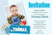 Personalised Christening Invites / For a special way to announce and invite your guests to your little ones Christening, send out a personalised christening invite. Complet with envelopes to send out to your guests straight away. For our full range of children and baby invites visit us at www.justthecard.co.uk