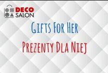 Prezenty dla Niej / Gifts for Her / Pomysły dla prezenty dla Pań, Kobiet, Dziewczyn. Więcej znajdziecie na stronie DECOSALON: // Gifts ideas for ladies. Find more on DECOSALON: http://www.decosalon.pl/kategoria/na-prezent/dla-niej.html