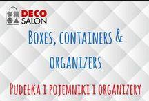 Pudełka i pojemniki i organizery || Boxes, containers and organizers / Pudełka i pojemniki na różności. Do kuchni, salonu, łazienki, biura