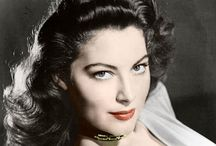 """A V A  GARDNER 1922-1990 / """"Once upon a time she was thought to be the most beautiful woman in the world. She had luminiscent white skin, eyes like Andean emeralds, eminent cheekbones, a wide, sensuous crescent mouth, a sleek, strong body that moved with a feline insolence, and a dancer's grace. On the silver screen she conveyed a powerful image of dark desirability. To see her in the flesh was said to have made the blood race, the hair on the arms stand up."""" - (Lee Server, biographer) / by JonesGirl"""
