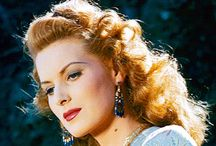 MAUREEN O'HARA 1920- / Maureen O'Hara (born 17 August 1920) is an Irish film actress and singer. The famously red-headed O'Hara has been noted for playing fiercely passionate heroines with a highly sensible attitude. She often worked with director John Ford and long-time friend John Wayne. Her autobiography, 'Tis Herself, was published in 2004 and was a New York Times Bestseller. / by Jones_Girl💫