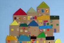 domy, město