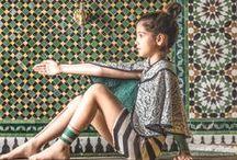 -Graphic Dreams- / Rayé et graphique - ambiance marocaine