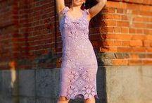 handmade knitted dresses / Витрина женская одежда