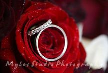 Wedding bands / Photos of wedding rings taken just before a wedding.