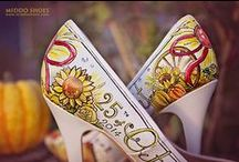 Middo Shoes | Bridal Couture / Hand-painted wedding & occassion shoes. One-of-a-kind, custom art painted on shoes.
