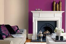 Living room ideas / Purple/grey colour scheme