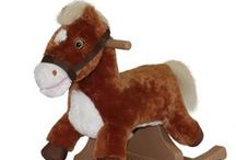 """Rocking Ponies / Rockin' Rider Rocking Ponies sing the """"I'm a Little Pony"""" song with a synchronized moving mouth and feature soft, huggable plush."""