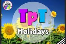 TpT ❤ Holidays / TpT ❤ Holidays: Looking for holiday activities for kids? This board contains pins for fun ideas and teaching resources from TeachersPayTeachers on the four seasons (winter, spring, summer and fall), months, weather and the different holidays. ❤ If you would like to be added as a collaborator, please follow the board and email me your Pinterest details at contact@jewelpastor.com. Please limit pinning to 10 pins a day, and make them a combination of products and ideas/freebies.