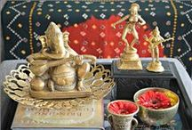 Indian Inspired Decor / Indian home decor, Brass collectibles, Indian Decor, vignette, Indian inspired décor, Global décor, ethnic Indian décor, Brass vignettes
