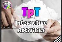 TpT ❤ Interactive Activities / TpT ❤ Interactive Activities: Looking for interactive activities, tips and teaching resources for the Primary or Elementary classroom? This board contains pins for TeachersPayTeachers products and blog posts on various activities that use technology. ❤ If you would like to be added as a collaborator, please follow the board and email me your Pinterest details at contact@jewelpastor.com. Please limit pinning to 10 pins a day, and make them a combination of products and ideas/freebies.