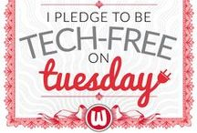 Tech-Free Tuesday / Unplug. Reconnect. Join the movement to go tech-free on Tuesdays. Take the pledge at http://techfreetuesday.com/take-the-pledge/