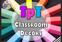 TpT ❤ Classroom Decors / TpT ❤ Classroom Decors: Looking for classroom decors for the Primary or Elementary classroom? This board contains pins for TeachersPayTeachers products and ideas for classroom organization and decoration. ❤ If you would like to be added as a collaborator, please follow the board and email me your Pinterest details at contact@jewelpastor.com. Please limit pinning to 10 pins a day, and make them a combination of products and ideas/freebies.