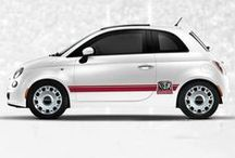 Fiat Exterior Appearance / #Fiat decal and molding inserts available for Fiat 500 Abarth, Pop and Sport.