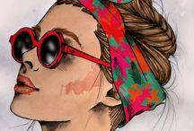 Art / Art, drawing, fashion sketch