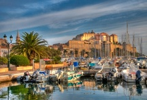 My Corse ISLAND FRANCE / Corsica - an island of many faces, quaint coastal villages to austere mountain towns and silver sand beaches to maquis covered hillsides.