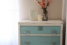 PAINTED FURNITURE / a great paint color can transform a piece of junk into a treasure / by Michelle Reid