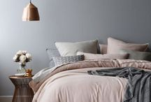 Decor colour: Blush / Blush and grey pallets with metallic accents for modern fresh interior schemes.