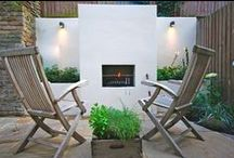 Clapham Fireside by Really Nice Gardens / We designed this Clapham garden to be multifunctional and perfect for entertaining, complete with a built in BBQ.