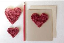 i love yarn: hearts / Yarn projects perfect for Valentine's Day or anytime of the year! Whether you knit, crochet, or just love yarn crafting, you'll find inspiration here.  / by I Love Yarn Day