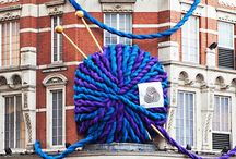 i love yarn: bombings / some of our favorite displays of yarn bombing, yarnbombing, yarnstorming, guerrilla knitting, guerrilla crochet, urban knitting or graffiti crochet- whatever you call it, we love it! / by I Love Yarn Day