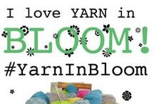 i love yarn in BLOOM! / Post photos of your spring projects on the I Love Yarn Day Facebook page for the chance to win a $150 worth of Yarnspirations yarn!! Visit Facebook for more details...https://www.facebook.com/iloveyarnday?ref=hl / by I Love Yarn Day