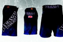 Heavy Duty Pro MMA Shorts / Heavy Duty Fight Gear Pro fighter MMA Shorts 4 way stretch, draw string and velcro fastening, very comfortable to fight in, available off the shelf or custom  fully sublimated, tough and very comfortable