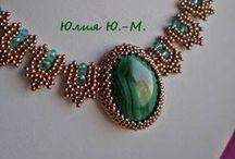 Украшения из бисера. Bead jewelery