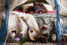 HOME / From peacock chairs to eclectic art and evergreen succulents. The Gypsies home is an outward expression of her travels.