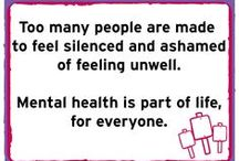 #EndStigma: mental health / Too many people with mental health problems are made to feel isolated and ashamed. Let's change the way we all think and act about mental health.