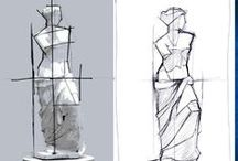 """Proportion / Also called """"encajar"""" in Spain. And a method of drawing in itself!"""
