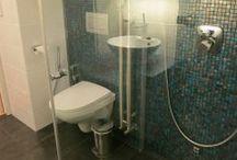 Kylpyhuoneen muutos / Toteutimme Espoossa sisustussuunnittelun ja remontin kaksion kylpyhuoneeseen ja saunaan. Kylpyhuone ja sauna, kaksio  | Kipasu Sisustussuunnittelu ja Remonttipalvelut