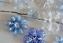 Decoratief met plastic flessen