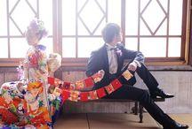 日本の結婚式.着物の写真 / 神社の挙式や、和装の前撮写真です
