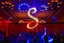 The Hilton Garden Inn - Music Man Entertainment Monogram & Up Lighting / Monogram & Up Lighting @ The Hilton Garden Inn (Clifton Park, NY) www.MusicManEntertainment.com / 518-842-4065