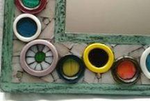 sibel'in panosu ;) / Mozaik, seamik, takı tasarımlar...