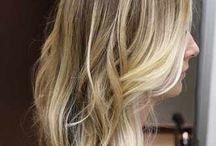 Hair blonde / Fine blonde hair