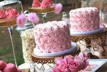 Chic Event: Party Decor, birthday ideas, etc. / Cake Ideas, Food Ideas, Girls Night Out, Gold & Pink Theme