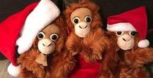Orangutan Outreach Cuddly Plush / These are the greatest plush orangutans ever!  {:(|} http://redapes.org/plush