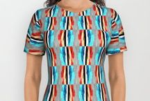 """All Over Print T-Shirts / My Society 6 online shop """"My Fashionation"""" offers freshly unique yet trend friendly design to decorate your life...be it your accessories or fashion apparel. / by Can-Do Girl Design"""