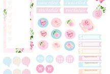 planner printables / Printables for your planner! A collection of planner printable inserts, stickers, dashboards and more.